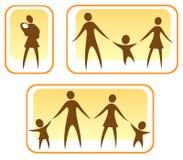 Ouders en kinderen Stock Foto's