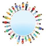 Ouders en kinderen uit de hele wereld Stock Afbeeldingen
