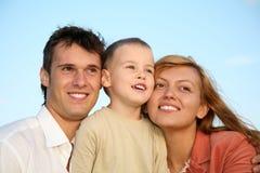 Ouders met het kind stock fotografie