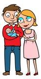 Ouders met hun nieuw - geboren baby Royalty-vrije Stock Foto's