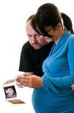 Ouders met ultrasone klankfoto stock foto's