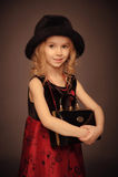 Ouderwets het glimlachen meisjesportret Stock Foto's