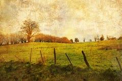 Ouderwets landschap Stock Afbeelding