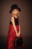 Ouderwets meisjesportret Royalty-vrije Stock Foto