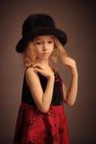Ouderwets meisjesportret Royalty-vrije Stock Fotografie