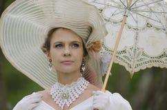 Ouderwets Portret van Vrouw Royalty-vrije Stock Fotografie