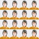 Ouderwets Vrouwen Veelvoudig Portret stock afbeeldingen