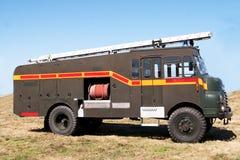 Ouderwetse brand-vrachtwagen stock fotografie