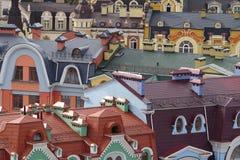 Ouderwetse cityscape Royalty-vrije Stock Foto's