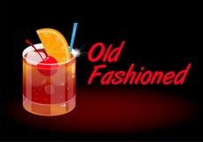 Ouderwetse cocktail vector illustratie