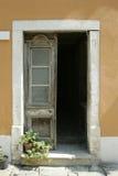 Ouderwetse deur Stock Foto's