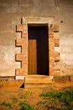 Ouderwetse deur Royalty-vrije Stock Foto's