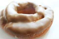 Ouderwetse Doughnut Dichte omhoog Hoog - kwaliteit Royalty-vrije Stock Foto's