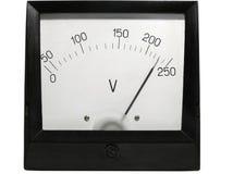 Ouderwetse elektrische voltmeter Stock Foto