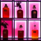 Ouderwetse Flessen Stock Fotografie