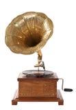 Ouderwetse grammofoon Stock Foto