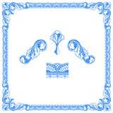 Ouderwetse grens Royalty-vrije Stock Fotografie