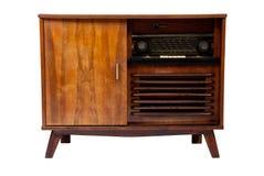 Ouderwetse houten bruine radiodoos Royalty-vrije Stock Afbeelding