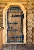 Ouderwetse houten deur Stock Fotografie