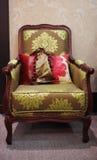 Ouderwetse houten stoel Stock Afbeeldingen