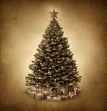 Ouderwetse Kerstboom Stock Foto