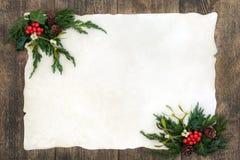 Ouderwetse Kerstmisgrens royalty-vrije stock foto