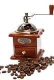 Ouderwetse koffiemolen Stock Foto's