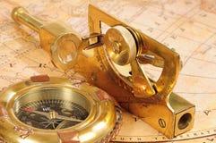 Ouderwetse navigatieapparaten Stock Fotografie