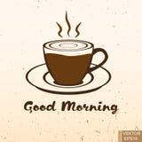 Ouderwetse ochtendscène: antieke schrijfmachine, kop van verse koffie, bedrijfscontract en pen Koffie kop Hete dranken vivacity V Royalty-vrije Stock Afbeelding