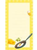 Ouderwetse receptenkaart Stock Foto's