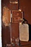 Ouderwetse slot en sleutel Stock Foto