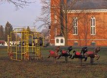 Ouderwetse speelplaats Stock Foto's