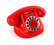 Ouderwetse telefoon Stock Fotografie