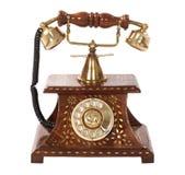 Ouderwetse telefoon Stock Foto's