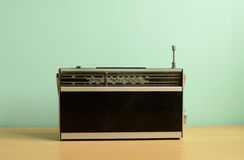 Ouderwetse Transistorradio Stock Afbeeldingen