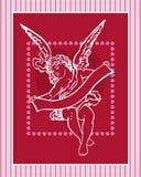 Ouderwetse Valentijnskaart Stock Illustratie