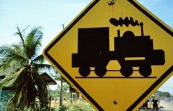 Ouderwetse verkeersteken Stock Foto