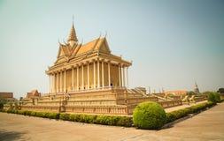 Oudong, centro del buddista di Vipassana Dhura Fotografia Stock Libera da Diritti
