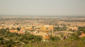 Oudong, centro del buddista di Vipassana Dhura Fotografie Stock Libere da Diritti