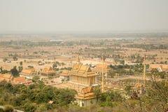 Oudong Vipassana Dhura buddistisk mitt Royaltyfria Foton