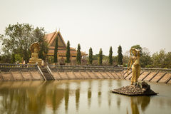 Oudong Vipassana Dhura buddistisk mitt Royaltyfri Bild