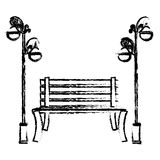 Oudoors bench icon image royalty free illustration