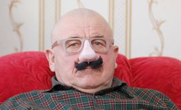 Oudste in masker Royalty-vrije Stock Afbeelding