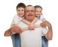 Oudste met het portret van de kinderenfamilie royalty-vrije stock foto's