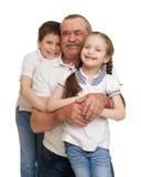 Oudste met het portret van de kinderenfamilie royalty-vrije stock foto