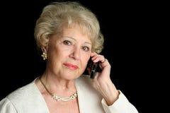 Oudste op Ernstig Telefoongesprek royalty-vrije stock fotografie