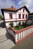 Oudste Roemeense spoorwegtrainstation Stock Foto's