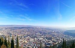 oudste stad in de zonnige dag van Georgia Tbilisi de mening van het hoogste punt Royalty-vrije Stock Fotografie