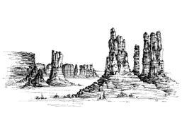 Ouest sauvage illustration de vecteur