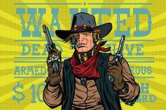Ouest sauvage de bandit de robot de Steampunk, voulu Photo stock